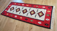 Handmade Natural Romanian Rug carpet kilim by TraditionalArt Rugs On Carpet, Carpets, Moldova, Bulgaria, Romania, Bohemian Rug, Hand Weaving, Tapestry, Europe
