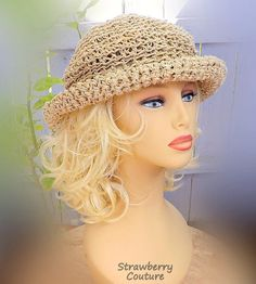 Floppy Beach Hat Sun Hat Women Crochet Sun Hat Summer Hats for Women Floppy Brim Hat Womens Wide Brim Hat by strawberrycouture by Fancy Hats, Cute Hats, Hats Tumblr, Summer Hats For Women, Wide-brim Hat, Hats Online, Girl With Hat, Knitted Hats, Beach Hats