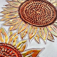 Antoni Batzu 2015 - terzo fuoco - Girasoli #ceramic #sunflower #sardinia #artigianato #artesarda #pottery #arredamento
