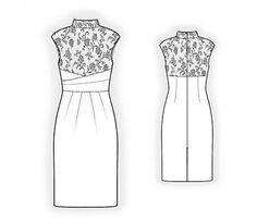 Lekala 4405 Dress Sewing Pattern PDF Download Free by TipTopFit