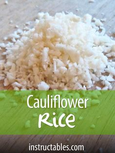 A quick & easy method to make your cauliflower rice at home. Great for gluten free and paleo diets!