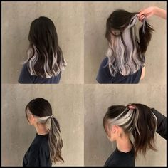 Hair Color Streaks, Hair Dye Colors, Under Hair Dye, Hair Inspo, Hair Inspiration, Hair Color Underneath, Medium Hair Styles, Curly Hair Styles, Hidden Hair Color