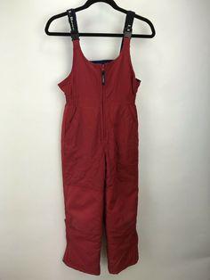 392dfb69b00ef7 (eBay Sponsored) Kids LL Bean Snow Pants Bibs Thinsulate Unisex Sz 10  Overalls Ski RED