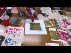 ▶ Spellbinders Try It Tuesday: Creating Art with Gelli Plates and Die Templates - YouTube