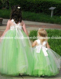 Flower Girl Dress Floor Length от OliviaKateCouture на Etsy, $225,00