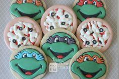 Teenage Mutant Ninja Turtle Decorated Sugar by LovinOvenCookies