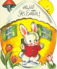 postcard.quenalbertini: Vintage Easter Card | by contrarymary on Flickr