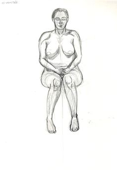 Life drawing with a model