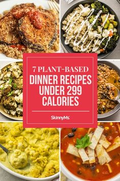 Looking to eat more plants this year? Try these plant-based dinner recipes under 299 calories. They're surprisingly filling and totally delicious! Healthy Eating Habits, Healthy Recipes For Weight Loss, Clean Eating Recipes, Healthy Dinner Recipes, Cooking Recipes, Healthy Tips, Healthy Meals, Detox Diet Recipes, Top Recipes
