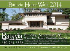 Batavia House Walk Sept. 28, 2014 features 5 distinctive homes and a tea at Water Street Studios.