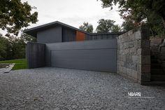 NP HOUSE – Garage view of NP House in Vila Nova de Famalicão, Portugal - #noarq #house #extension #garage #wooddesign #greydesign by José Carlos Nunes de Oliveira - © NOARQ - Photography by Arménio Teixeira