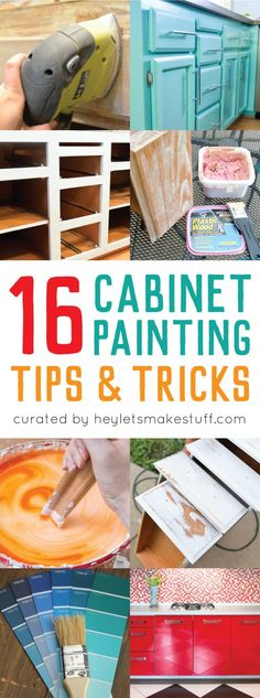 These 16 cabinet painting tips and tricks will help you achieve professional quality results on a DIY budget!