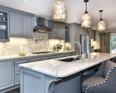 Traditional Kitchen in Pebble Gray Color Scheme