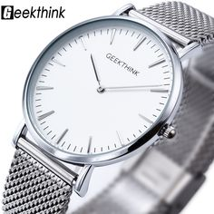 New ultra slim Top GEEKTHINK brand Quartz-Watch Men Casual Business JAPAN Analog Watch Men Relogio Masculino with gift box //Price: $35.95 & FREE Shipping //     #hashtag4