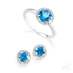 Diamond Collection: Topaz Gold Ring With Matching Earrings *Valid for 2013 Gold Jewelry, Fine Jewelry, Topaz, Sapphire, Silver Rings, Engagement Rings, Diamond, Bracelets, Earrings