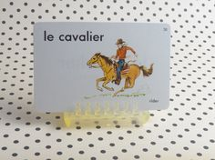 Vintage 1962 Rider le cavalier French Picture & by theoldmilkbarn
