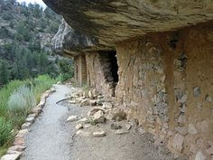 Walnut Canyon National Monument, near Flagstaff, AZ. Ancient cliff dwellings of the Sinagua.