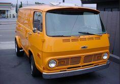 Chevy Van orange color vintage
