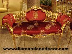 """Celine"" Fabulous Baroque French Reproduction Louis XV Rococo Wedding Sofa"
