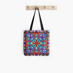 'Stained Glass on Speed' Tote Bag by Arrowsmith Design Large Bags, Small Bags, Medium Bags, Cotton Tote Bags, Are You The One, Stained Glass, Totes, Shells, Shoulder Bag