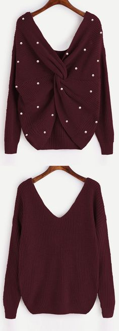 Up to 70% OFF! V Neck Twist Pearly Sweater. #Zaful #tops #outfits #sweaters #pearlsweaters #cardigans #choker sweater #chokers #chunkysweater #oversizedsweaters #knitsweater #knitwear #offtheshouldersweater #sweateroutfits #cardigan #cardiganoutfit #turtlenecksweaters #cashmeresweater #cashmerejumpers #womenfashion #winteroutfits #winterfashion #falloutfits #fallfashion #halloweencostumes #halloween #halloweenoutfits #pearl @zaful Extra 10% OFF Code:ZF2017