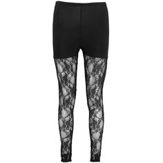 Boohoo Tahira Full Lace Leg Leggings ($16) ❤ liked on Polyvore featuring pants, leggings, print pants, lace pants, patterned trousers, patterned leggings and print stretch pants