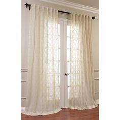 Half Price Drapes Saida Embroidered Faux Linen Sheer Single Curtain Panel & Reviews | Wayfair