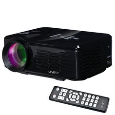 [$55.60] Uhappy U35 800LM Home Theater 640*480 Mini Projector with Remote Control, Support HDMI + SD + USB + TV + AV + VGA(Black)