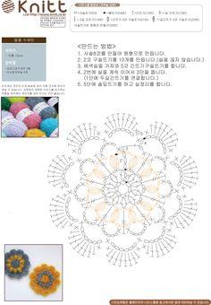 니뜨(knitt) [(무료도안) 들꽃 수세미]