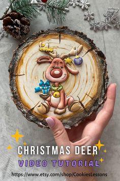 Sweet Cookies, Christmas Cookies, Christmas Ornaments, Christmas Deer, Winter Christmas, Pies Art, Royal Icing Cookies, Sugar Cookies, Christmas Biscuits