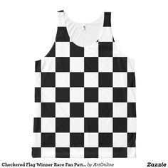 Checkered Flag Winner Race Fan Pattern All-Over Print Tank Top