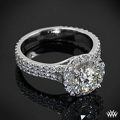 park avenue diamond engagement ring with a 1215ct a cut above - David Tutera Wedding Rings