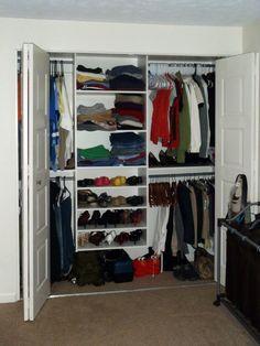 Easy Track closet organizer