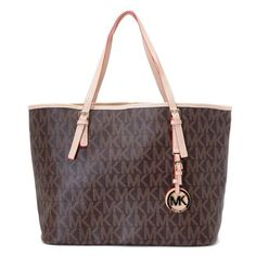 MICHAEL Michael Kors Jet Set Logo Travel Tote Brown