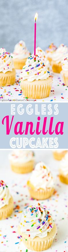 Eggless Vanilla Cupcakes | Mommy's Home Cooking