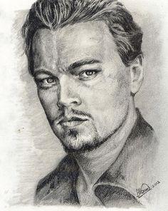 Leonardo Dicaprio...pencil drawing by Alban Dizdari