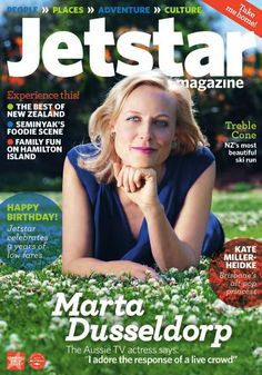 Aussie TV actress Marta Dusseldorp on her new series A Place to Call Home in the new Jetstar magazine, out this month.