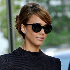 Jessica Alba 60s up-do - The Hair 100 - Top Celeb Hairstyles | InStyle UK