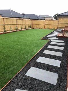 Low Maintenance Landscaping, Front Yard Landscaping, Backyard Landscaping, Landscaping Ideas, Backyard Ideas, Black Rock Landscaping, New Build Garden Ideas, Mulch Ideas, Garden Design Ideas On A Budget