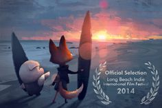 The Dam Keeper is heading to southern California! Pig and Fox are off to sunny Long Beach, California to catch some waves!  Our film will be part of the Long Beach Indie Film Festival going on next week, from August 27th to 31st, we are part of the Shorts Block V - Innovation program playing Saturday night at 6:00pm, doors open at 5:45!  Here is a link to the ticket page! http://www.longbeachindie.com/tickets  Illustration by Kristy Kay!  http://www.kristydraws.com/