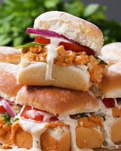 Buffalo Chickpea Sliders Recipe by Tasty