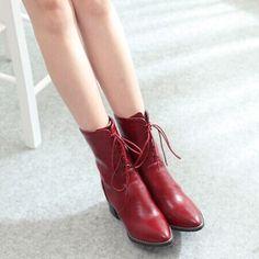 รองเท้าบู๊ทแฟชั่น สไตล์อังกฤษ ยี่ห้อ Pangma มีให้เลือก 2 สี