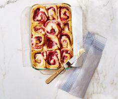 Raspberry-swirl rolls