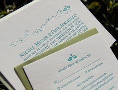 Letter Pressed Wedding Invitations