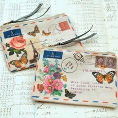 letter pouch - would make great envelope art -  -  Mail Art #mailart #snailmail #happymail