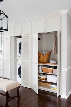 A place for everything & keeping it tidy in this utility space with everything behind closed doors