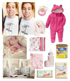 """""""Luke's little girl"""" by lexi54525sos ❤ liked on Polyvore featuring Old Navy, Baby Aspen, Jellycat and Huggies"""