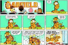 Tirinhas do Garfield.