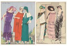 Art Deco Spring Fashion, C. 1922, Pair