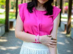 another side of me: Weekend Outfit: Pink isn't just a color, it's an attitude!